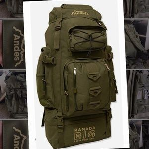 Andes Ramada Big Loader 120 Green Hiking Backpack